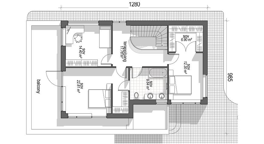 moderne ferdighus Plan1